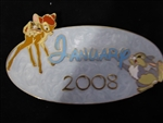 Disney Trading Pin 59157 DisneyShopping.com - Calendar Series - January 2008 - Bambi (Jumbo)