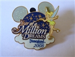 Disney Trading Pin 59296 DLR - Year of a Million Dreams 2008 - Logo (Tinker Bell)