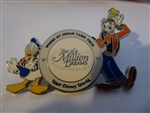 Disney Trading Pin 59583 WDW - Year of a Million Dreams Lanyard and 4 Pin Set (Goofy and Donald Duck Pin Only) Version II