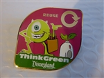 Disney Trading Pin 59721 DLR - Think Green - Reuse - Mike Wazowski