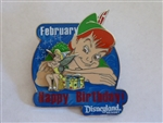 Disney Trading Pins  59961 DLR - Birthday of the Month 2008 - February (Peter Pan & Tinker Bell)