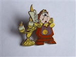 Disney Trading Pins 61101 Walt Disney's Beauty and the Beast - 4 Pin Booster Collection (Lumiere & Cogsworth Only)