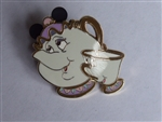 Disney Trading Pins 61103 Walt Disney's Beauty and the Beast - 4 Pin Booster Collection (Mrs. Potts & Chip Only)