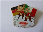 Disney Trading Pin  63581 Summer of Champions - Chip and Dale with German and Italian Flags