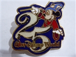Disney Trading Pin WDW - 25th Anniversary (Sorcerer Mickey)