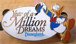 Disney Trading Pins 64498: DLR - Year of a Million Dreams (Donald Duck) Gift