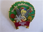 Disney Trading Pin 65981 DLR - Disneyland® Hotel Holiday Wreath (Tinker Bell)