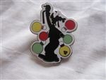 Disney Trading Pin 66280 DLR - Hidden Mickey Christmas Silhouette Goofy