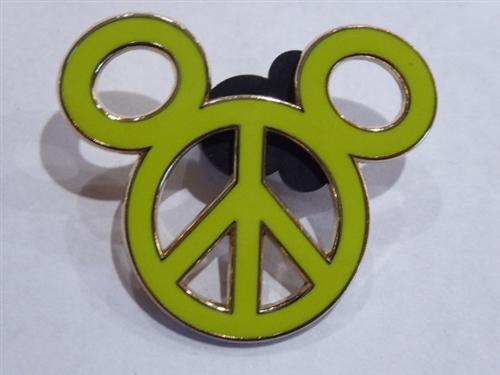 Disney Pin Cast Lanyard Collection 4 Mickey Icon Yellow Mickey Head WDW