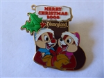 Disney Trading Pin 66828 DLR - Merry Christmas 2008 Stocking - Chip 'n' Dale