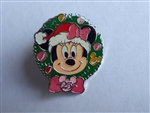 Disney Trading Pin 67049 TDR - Minnie in a Santa Hat - 25 Wreath