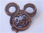 Disney Trading Pin  67082 WDI - Mickey Mouse Head Fire Breathing Dragon - Copper Metal