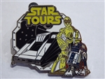 Disney Trading Pins 67742 DLR - 4 Pin Booster Collection - Tomorrowland - Star Tours (C-3PO & R2-D2)