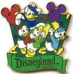 Disney Trading Pin Travel Company Celebrate Donald and Nephews at Disneyland Resort