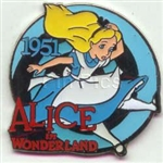 Disney Trading Pins Countdown to the Millennium Series #75 (Alice in Wonderland)