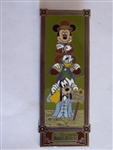 Disney Trading Pin Haunted Mansion - Characters in Stretching Room - Mickey, Donald & Goofy in Quicksand