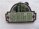 Disney Trading Pin 70865: DLR - Haunted Mansion O'Pin House Booster Set - PIN #2, SOLD SIGN