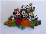 Disney Trading Pin 7258 2001 Fab 4 in the Pumpkin Patch