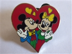 Disney Trading Pin 7464 Mickey and Minnie in a Red Heart