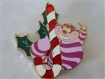 Disney Trading Pin 74899 DSF - Holiday 2009 - Cheshire Cat with Candy Cane