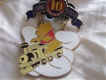 Disney Trading Pin 75858: WDW - Disney Pin Trading 10th Anniversary - Tribute Collection - Cast Lanyard - Winnie-the-Pooh on Train