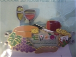 Disney Trading Pin 7589 Epcot International Food and Wine Festival - 2001 (Platter)