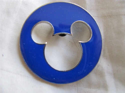 Mickey Mouse Face in Blue Flag Disney Pin