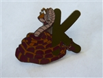 Disney Trading Pins 7807 Alphabet Pin - K (Kaa)  Black Prototype