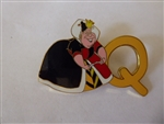 Disney Trading Pin 7814 Alphabet Pin - Q (Queen of Hearts)