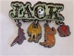 Disney Trading Pin 78565: 'Jack' - Dangle Icons