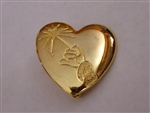 Disney Trading Pin 7939: Gold Heart with Arm and Wand Variety Charity Pin