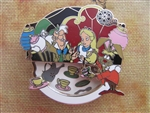 Disney Trading Pin 79458: Walt's Classic Collection - Alice in Wonderland (Mad Hatter, Alice, March Hare ONLY)
