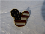 Disney Trading Pin 7949: DS - USA Mickey Head Flag Icon