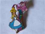 Disney Trading Pin 80282 WDI - Lamppost Series #1 - (Alice & Cheshire Cat)