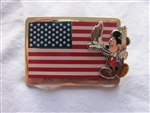 Disney Trading Pin 8038: DS - Mickey Mouse and Flag
