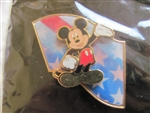 Disney Trading Pin 8039: DS - Mickey Mouse Flag (Lenticular/ 3D)