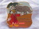 Disney Trading Pin 81179: WDW - Disney's Animal Kingdom® Theme Park - Animals Mystery Set - Ludwig Von Drake with White Rhinoceros ONLY