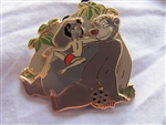 Disney Trading Pin 81203: Walt's Classic Collection - The Jungle Book - Baloo and Mowgli ONLY