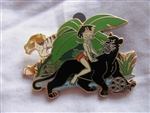 Disney Trading Pin 81204: Walt's Classic Collection - The Jungle Book - Mowgli and Bagheera ONLY