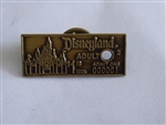 Disney Trading Pin 817 Disneyland Adult Admission Ticket (3D)