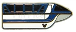 Disney Trading Pin 82313: DLR - 2011 Hidden Mickey Series - Monorail Collection - Mark VII Dark Blue