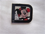 Disney Trading Pin 82380: WDW - 2011 Hidden Mickey Series - Classic 'D' Collection - Mickey