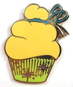 Disney Trading Pin Character Cupcake Mini Pin Set