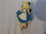 Disney Trading Pin 84049: Alice in Wonderland Curtsey (Silver Metal Release)