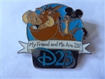 Disney Trading Pin  84082 D23 'Refer-A-Friend' Set - Pumbaa and Timon Only