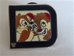Disney Trading Pin 2011 Hidden Mickey Series - Classic 'D' Collection - Chip 'n Dale