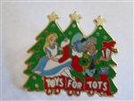 Disney Trading Pin  87907 DSF - Alice and the Mad Hatter - Toys for Tots - 2011