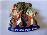Disney Trading Pin  88263 WDI - Chip & Dale New Year 2012