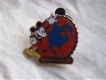 Disney Trading Pin 88609: WDW - 2012 Hidden Mickey Series - Continent Stamps Collection - North America