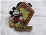Disney Trading Pin 88610: WDW - 2012 Hidden Mickey Series - Continent Stamps Collection - Africa